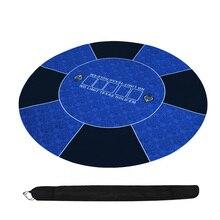 120см Классик синий Техасский Холдем покерный стол 3мм резина сукно для покера / Настольная игра скатерть макеты Poker Table Cloth 2кг