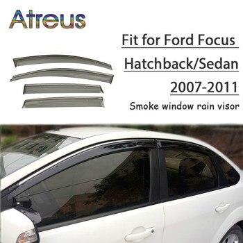 Atreus 1set ABS Rain Smoke Window Visor Car Wind Deflector For Ford Focus Hatchback/Sedan 2007-2011 Accessories