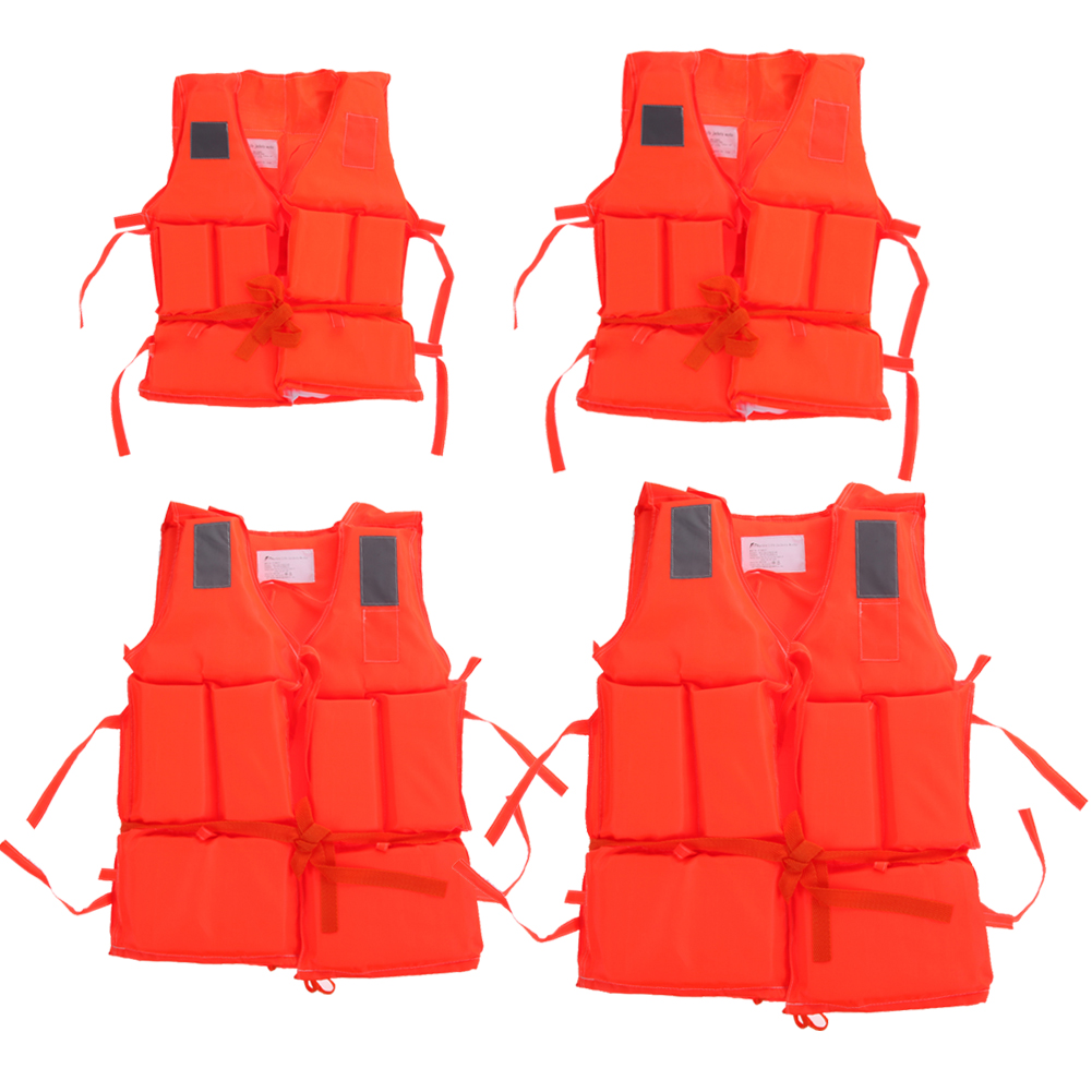 simitter01 Kids To Adult Plus Size Red Life Vest With Survival Whistle Water Sports Foam Life Jacket For Drifting Boating Swim Ski Surfing