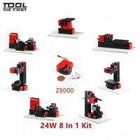 Thefirsttool Z8000 Mini 8 in1 Machine Tool Kit Jigsaw ,Sanding/Drilling/Milling Machine Children Education DIY Best Gift