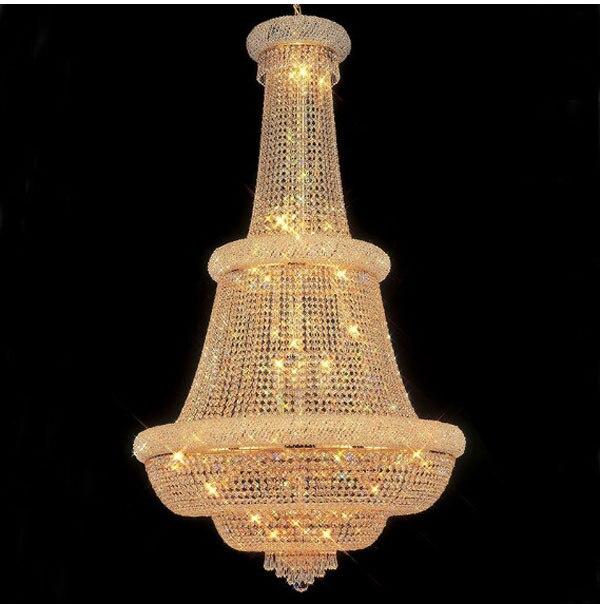 Phube Ingresso Illuminazione Grande Foyer Lampadario di Cristallo Impero Francese Oro Lampadari Di Cristallo Luce Illuminazione + Spedizione gratuita!