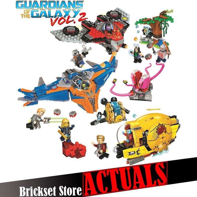 Marvel Super Heroes Guardians of the Galaxy Star-Lord Nebula Mantis Glenmora Yondu Building Blocks Children Gift legoingly Toys