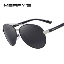 MERRY'S Classic Aviation Sunglasses Men HD Polarized Luxury Brand Designer Aluminum Male Driving Sun glasses For Men S'8628