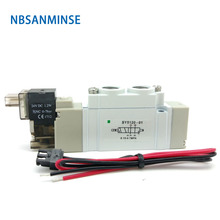 G1/8 SY5000 DC24V AC220V Series Mini Air Solenoid Valve Normal Close Internal Pilot SMC Similar Type Sanmin
