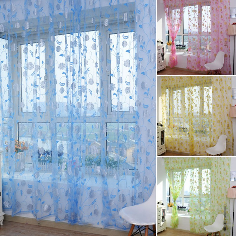 Rose rideau promotion achetez des rose rideau for Rideau porte fenetre salon