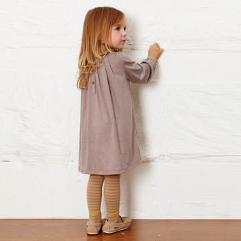 2019 Autumn Toddler Baby Girl Long Sleeve Korean Clothes Casual Girls Dress Floral Collar Cotton Dresses Kids Children Clothing