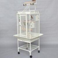 Высококачественные роскошные гладить металла Большая клетка для попугая с подставкой и птица звонкое кусаться игрушки для серый попугай б