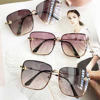 2019 Oversize cuadrado gafas de sol hombres mujeres celebridad gafas de sol hombre conducción superestrella de lujo de la marca de diseñador de mujer tonos UV400
