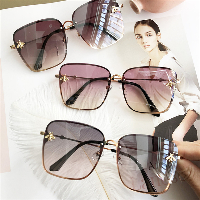 a2c0f1ef41d7 2019 Oversize Square Sunglasses Men Women Celebrity Sun Glasses Male  Driving Superstar Luxury Brand Designer Female Shades UV400