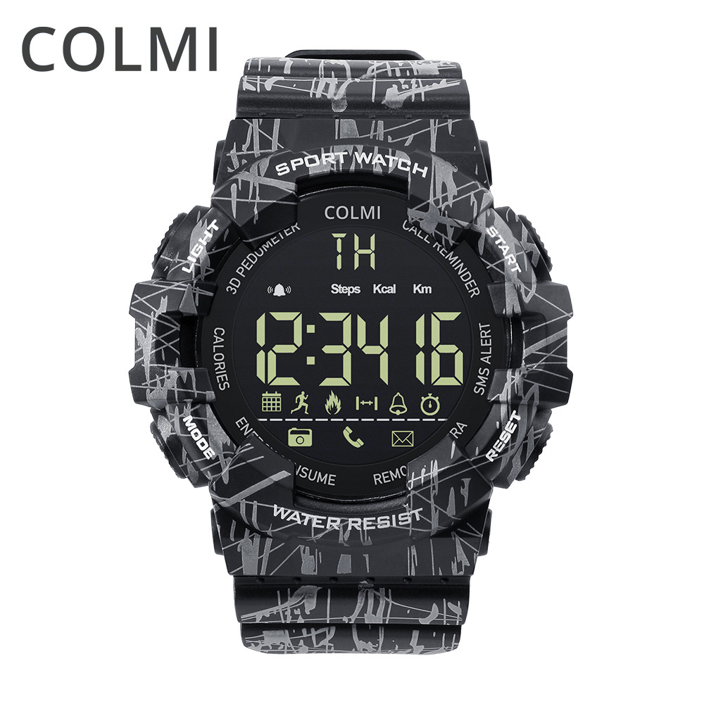 COLMI EX16C Camo Smartwatch 5 ATM Waterproof Activity Tracker Steps Calories Distance Smart Watch Standby 12 Months