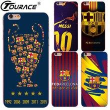 Barcelona jersey 2017 caso capa para iphone 7 5S capinhas duro transparente pc case capa do telefone para iphone 6 5s se 6 plus fundas