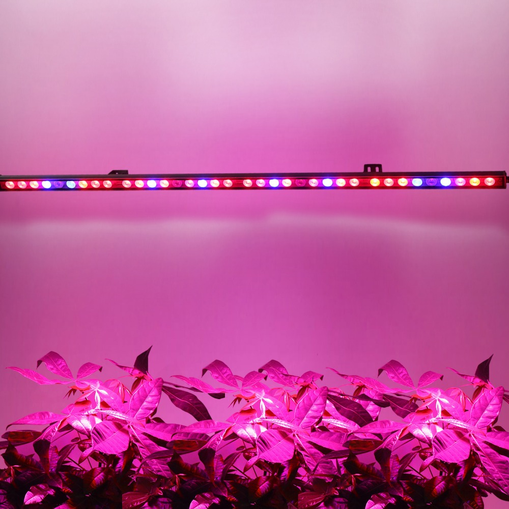 Фотография pulargrow 10pcs/lot 108W waterproof UV+IR led grow lights for hydroponic indoor grow tent medical plant growing US/DE stock