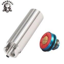 Zestaw tuningowy stalowy CNC frezowany jednoczęściowy Cylinder/głowica cylindrów stały zespół cylindrów głowica tłoka Airsoft AEG Ver.2/3 skrzynia biegów