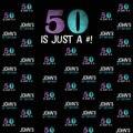 Фон для фотосъемки на заказ с 50-летним юбилеем буквенным принтом черного цвета на день рождения