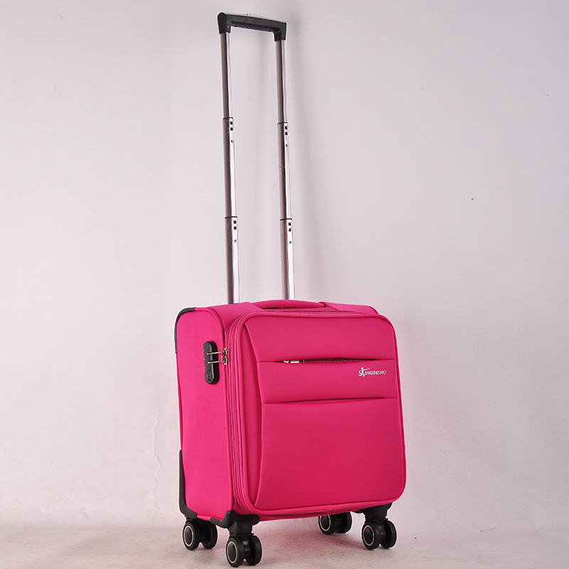 16'' Oxford Carry on Trolley Small Luggage Men and Women Spinner ...