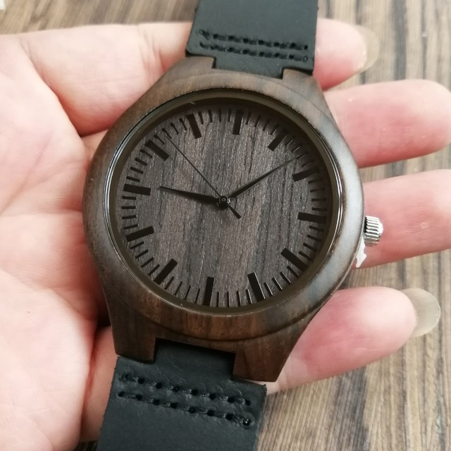ENGRAVED WOODEN WATCH TO MY HUSBAND I AM PROUD TO BE YOUR WIFE 1