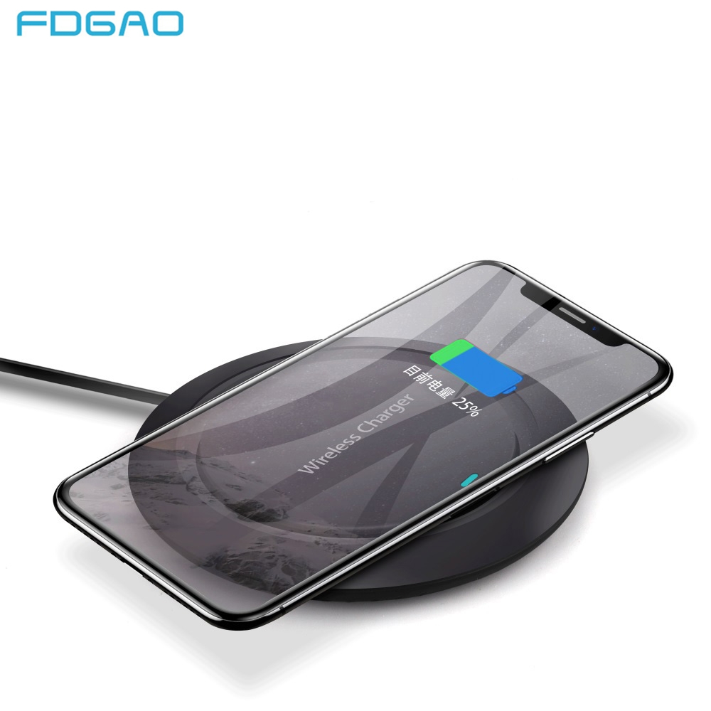 FDGAO Qi Wireless Charger for Samsung Galaxy S9 S8 Plus