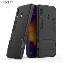 For Samsung Galaxy A30 Case Rubber Robot Armor Hard PC Back Phone Cover for A303F
