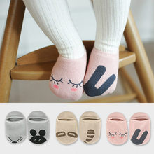 ADOMI 0-2T Cartoon Unisex Newborn Anti Slip Baby Girls/ Boys Cotton Toddler Boat Socks Spring Fall Socks