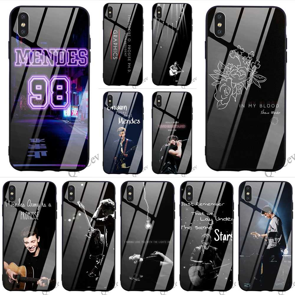 US $2 98 25% OFF|Hybrid Canadian Singer Shawn Mendes Tempered Glass Phone  Case for iPhone 6S Plus Cover 8 XR X 7 6 5 5S SE Xs Max TPU-in Fitted Cases