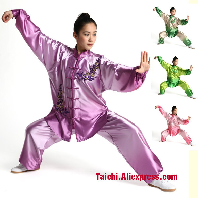 Female Wushu Tai Chi Clothing Embroidery  Clothes Graded Taijiquan Embroidered Costumes Spring Kungfu Clothing