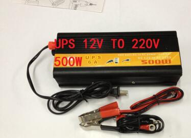 цена на free shipping 500W DC12V To AC220V Modified Sine Wave Inverter With UPS battery charging function