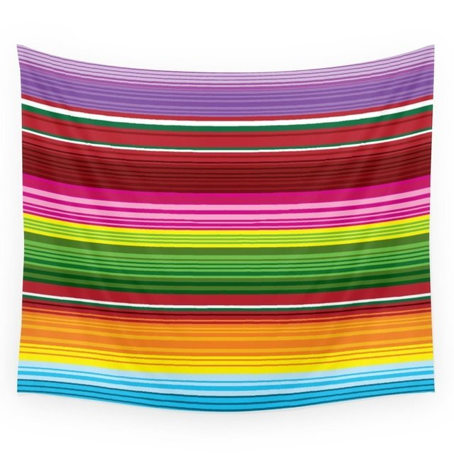 Mexican Blanket Rainbow Wall Tapestry Wedding Party Gift Bedspread Beach Towel Yoga Picnic Mat