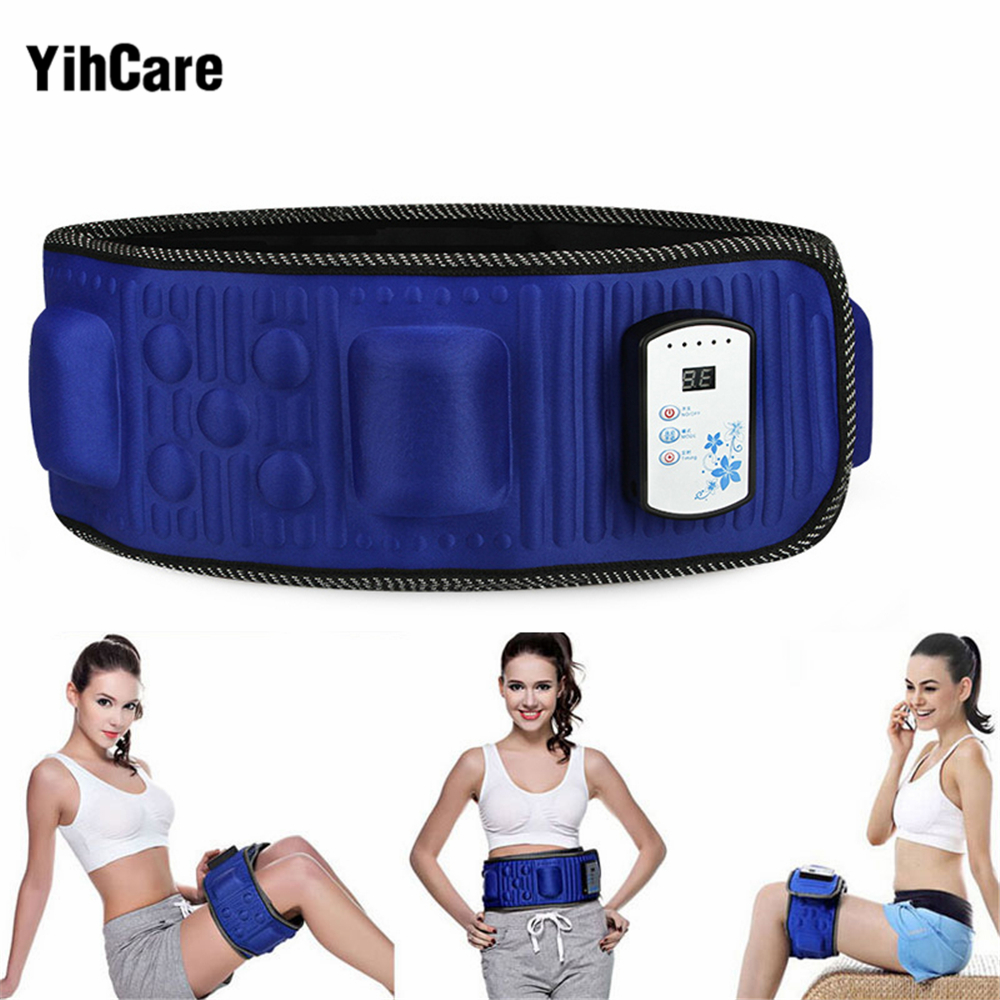 YihCare Electronic Body Slimming Massage Belt Gymnic Muscle Exercise Arm Leg Waist Vibration Weight Loss Electric Massager Belts fitness slimming belt electronic slim belt abdominal massager reduce fat reducer belt body muscle arm leg waist slimming tool