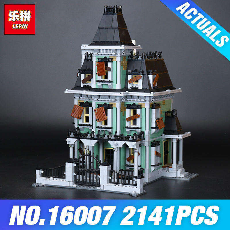 New LEPIN 16007 2141Pcs Monster fighter The haunted house Model set Building for Kit DIY Educational Gift Compatible With 10228 the haunted
