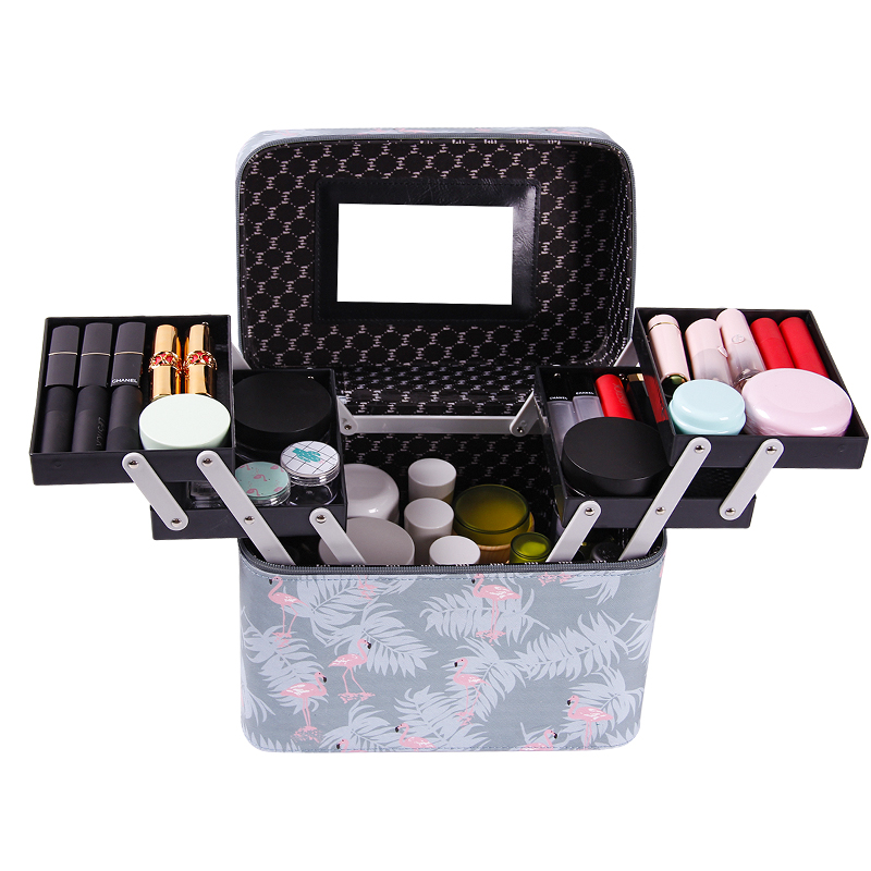 Professional Cosmetic Bag Portable Large Capacity Manicure Beauty Storage Box Cosmetic Case Waterproof Lovely The New MakeUp Bag