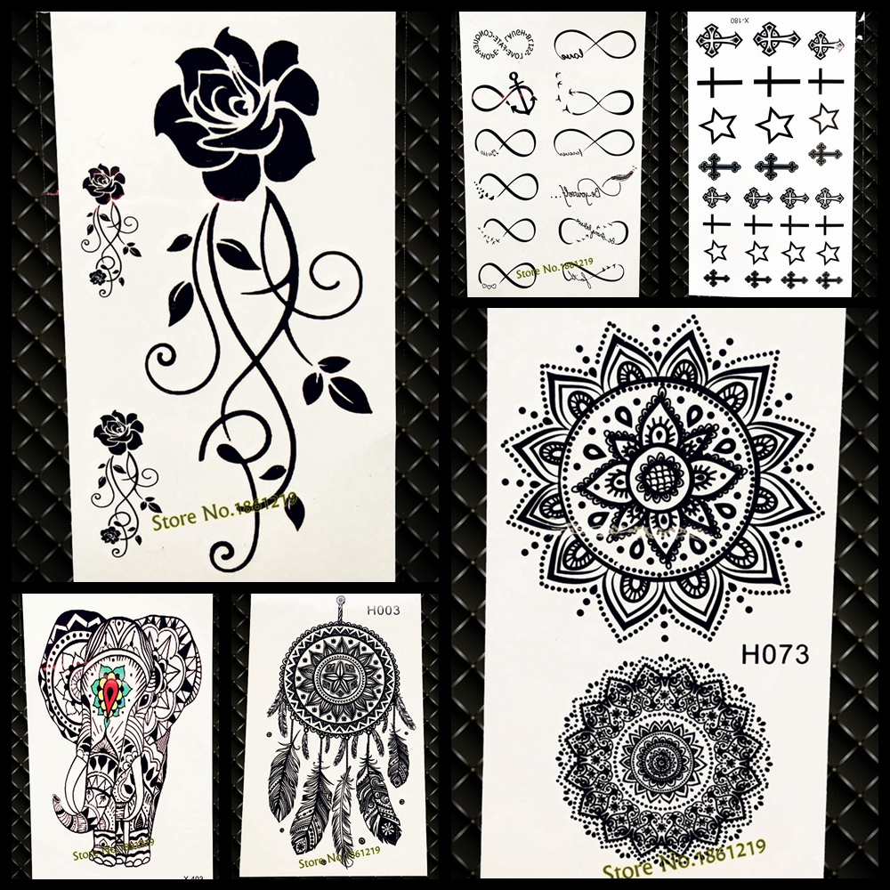 Waterproof Temporary Tattoo Sticker Women Flash Tattoo Mandala Design
