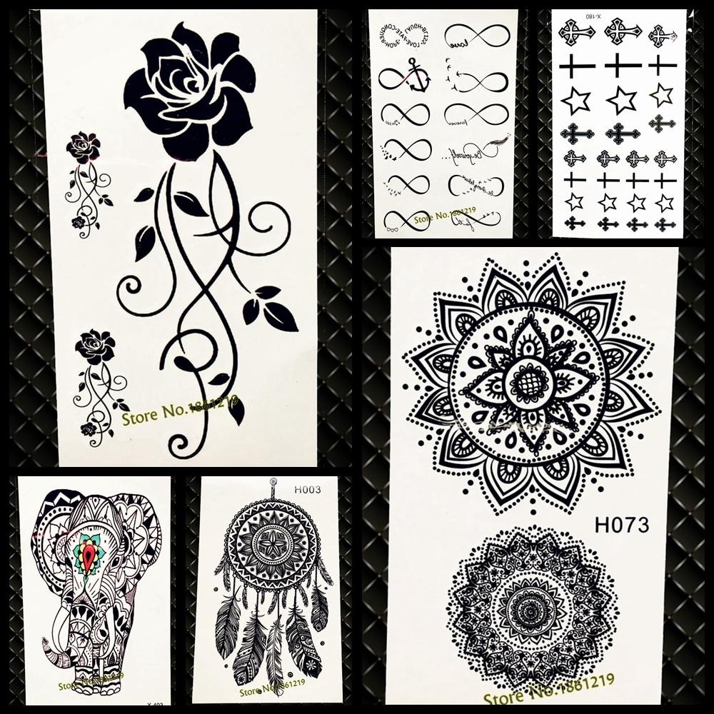 Waterproof Temporary Tattoo Sticker Women Flash Tattoo Mandala Design