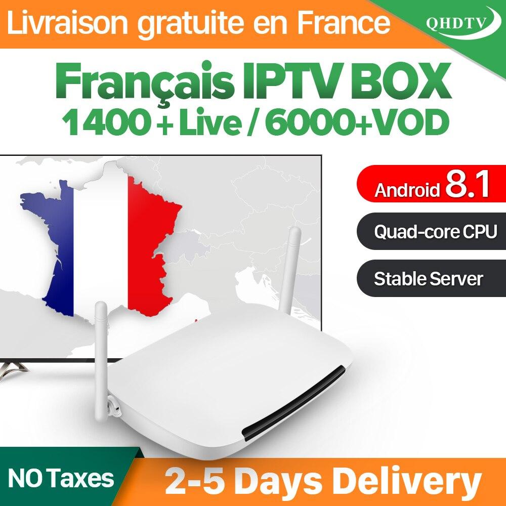 Leadcool IPTV Γαλλία Αραβικά Q9 Android 8,1 Quad-Core Leadcool QHDTV Συνδρομή IPTV Γαλλία Αραβικά Βέλγιο Ολλανδία IP TV