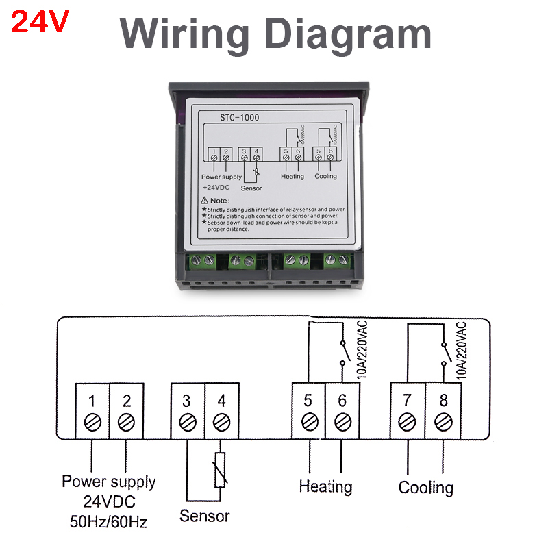 a mini temperature controller  with large and clear led display for beer  readability  wide temperature measuring range  heating and cooling control