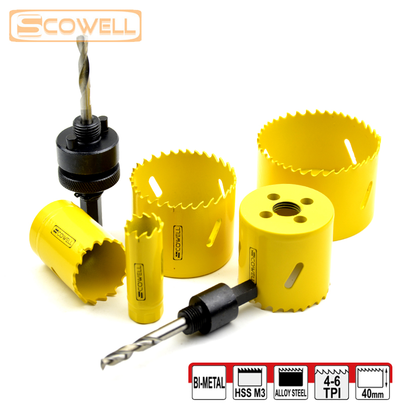 30% Off 7PCS 19mm-73mm HSS Bi-metal Hole Saw Sets HSS Holesaw Cutter Professional Wood Cutting Blades Circle Crown Saw Blades