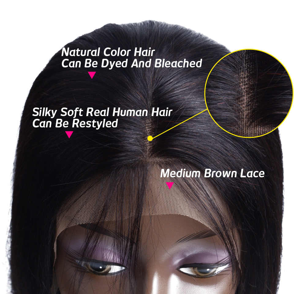 Бразильский Синтетические волосы на кружеве парики из натуральных волос с Африканской структурой, предварительно вырезанные 13X4 уха до уха прямые Синтетические волосы на кружеве al парик с детскими волосами парик из натуральных волос для Для женщин
