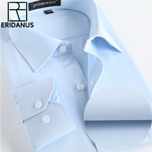 Men's Business Shirts 2016 Spring New Arrival Male Fashion Solid Casual Slim Fit Turn-down Collar Long Sleeve Shirt 8XL M007