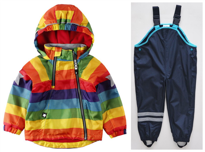2017 autumn new Korean children's clothing men and women baby rainbow striped hooded jacket jacket jackets trench coat new autumn period and the star of a women s clothing stripe trench coat female suit shorts cultivate morality