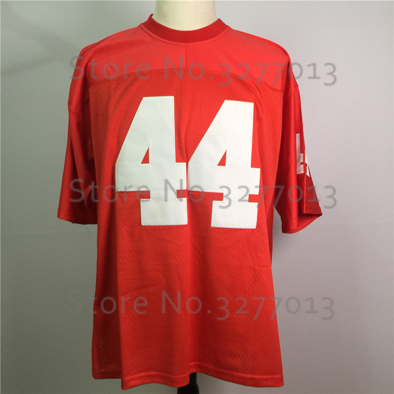 2018 Cheap America Football Jerseys #44 FORREST GUMP Jersey The Movie Vintage Throwback Jersey Retro Stitched Mens Red Shirts
