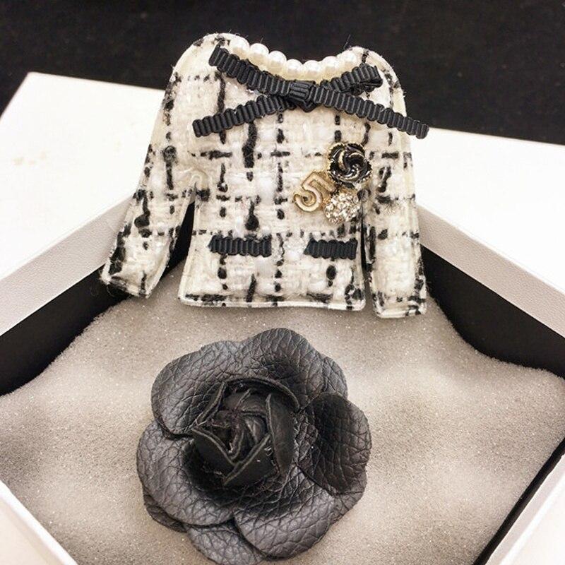 Белый, черный, Камелия, броши, набор для женщин, одежда, бант, цветок камелии, No.5, броши, булавки, канал, ювелирное изделие, винтажная пряжка