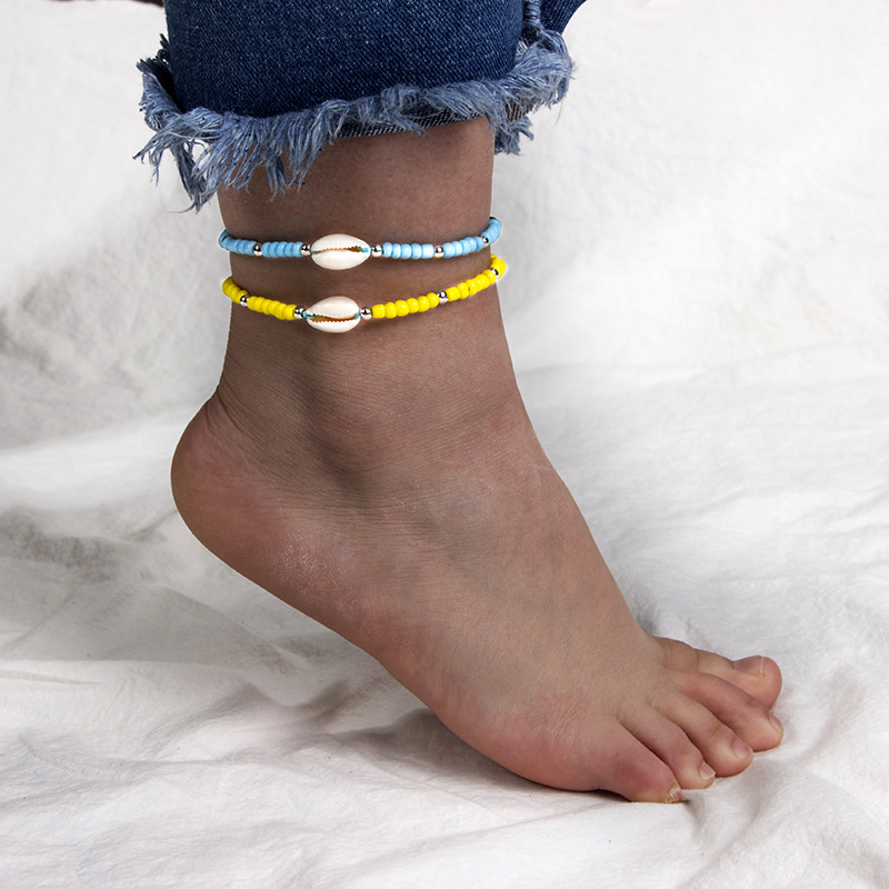 Ubuhle Bohemian Adjustable Bracelets Graceful Women Charm Jewelry Handmade Acrylic Beads Beautiful Shell Bracelet Summer Gifts in Chain Link Bracelets from Jewelry Accessories