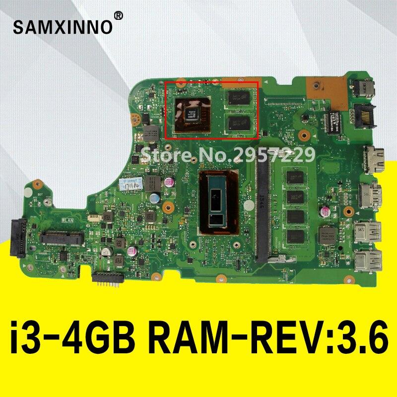 X555LD Motherboard i3-4GB-REV:3.6 RAM For ASUS X555LP X555L F555L K555L W519L laptop Motherboard X555LD Mainboard test 100% OK цена