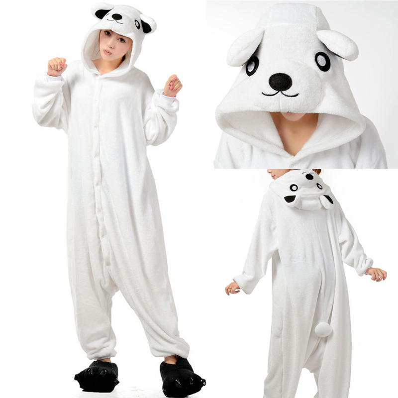 polar bear Onesie Anime Pajamas Anime Cosplay Costume unisex Adult Onesie Sleepwear Dress  Halloween Carnival Party Costume