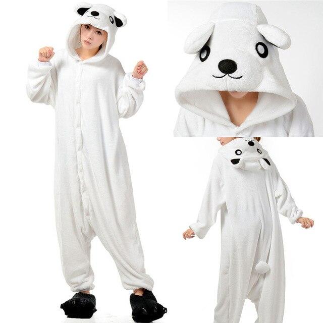 84dfadf0e polar bear Onesie Anime Pajamas Anime Cosplay Costume unisex Adult Onesie  Sleepwear Dress Halloween Carnival Party Costume