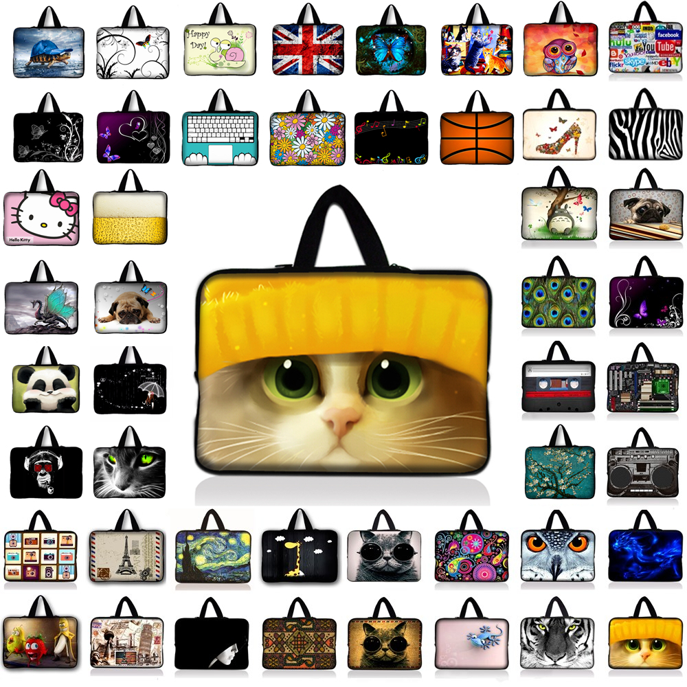 10 11.6 13.3 14.4 15.4 15.6 17.3 inch Handle Laptop Sleeve Bag Notebook Smart Cover Case protector For Macbook Air/Pro/Retina B1