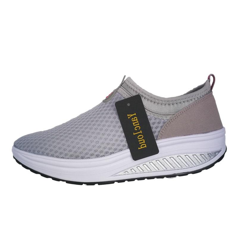 2016 Verano Zapatos Mujeres Causal Zapatos Moda Caminar Pisos Altura - Zapatos de mujer - foto 3
