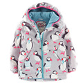 2015new brand designer winter baby girls jackets coats thicken warm baby girl jacket hooded cartoon printed toddler girl blazer