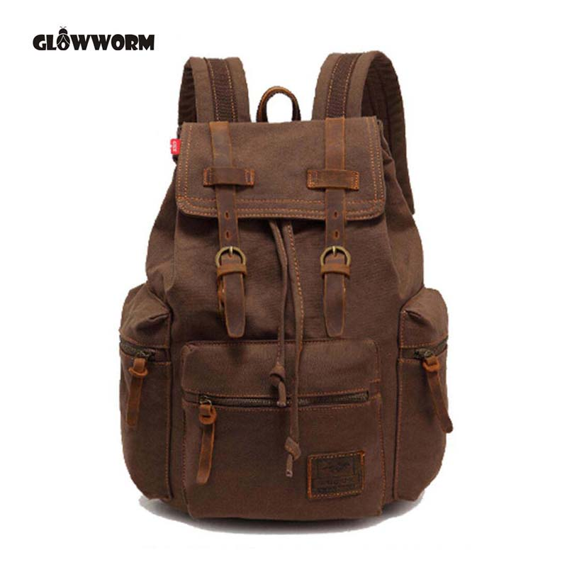 Genuine Leather+Canvas Stylish Travel Large Capacity Backpack Male Luggage Shoulder Bag Computer Backpacking Men Functional Bags men travel canvas backpack large capacity male luggage shoulder bag computer backpacking men student vintage casual backpack