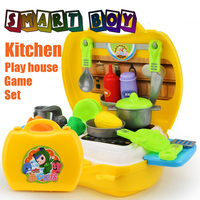 26pcs Kitchen Tool Chest Toys Classic Pretend Play Kitchen Tableware Fruit Vegtable Learning Education Adorable Gift