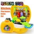 26 pcs Cozinha ferramenta peito Brinquedos Clássico Pretend Play Kitchen Talheres & fruit vegtable Aprendizagem Educação Adorável Presente para As Crianças